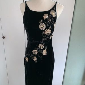 Sensational silk velvet dress
